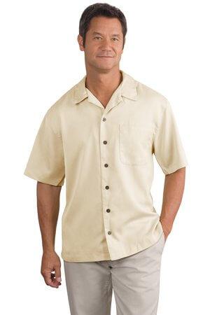 Camisa de vestir Port Authority mod. S535 con bordado de logotipo.