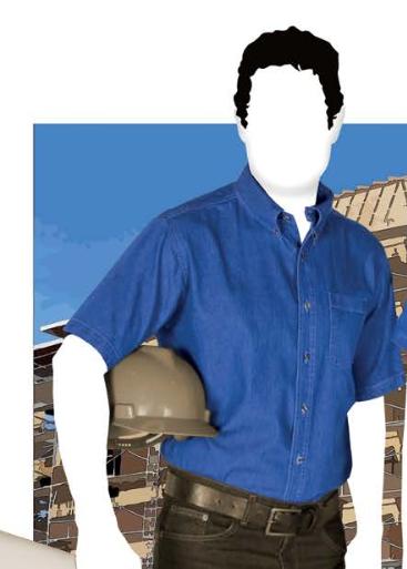 Camisa de mezlilla para caballero