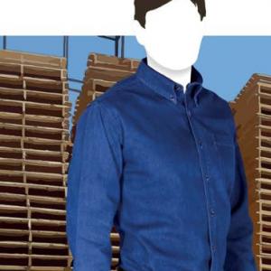 Camisa De Mezclilla Para Caballero De Manga Larga  C0601