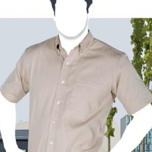 Camisa De Gabardina Manga Corta Para Caballero C0606, Marca YAZBEK