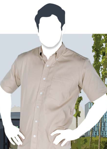 Camisa de gabardina manga corta para caballero C0606 b78fbf507f565