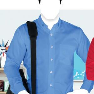 Camisa De Gabardina, Manga Larga Para Caballero Marca YAZBEK, C0607