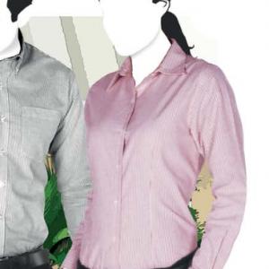 Camisa Oxford Mil Rayas De Manga Larga Para Dama D0603