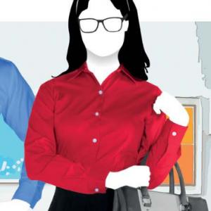 Camisa De Gabardina Manga Larga Para Dama, Marca YAZBEK  D0607