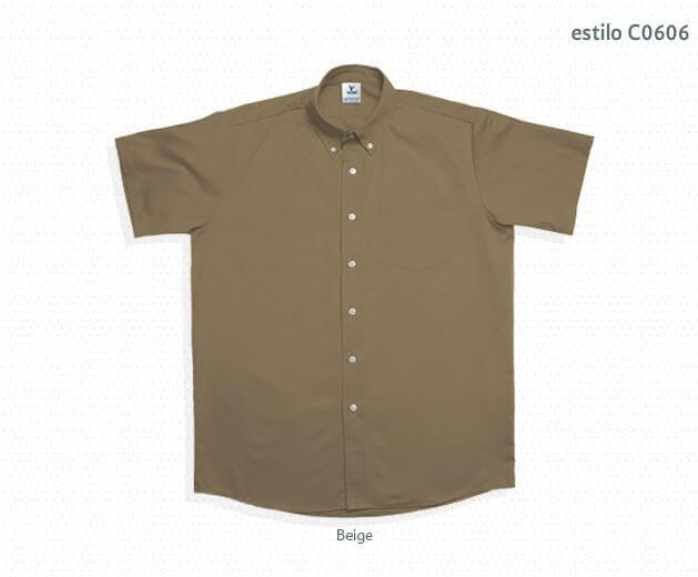 ... Camisa de gabardina manga corta para caballero C0606 e218ffabc3725