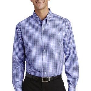 Camisa De Vestir  Para Caballero De Cuadros Port Authority S654