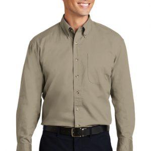 Camisa De Vestir  Para Caballero De Cuadros Port Authority S600T